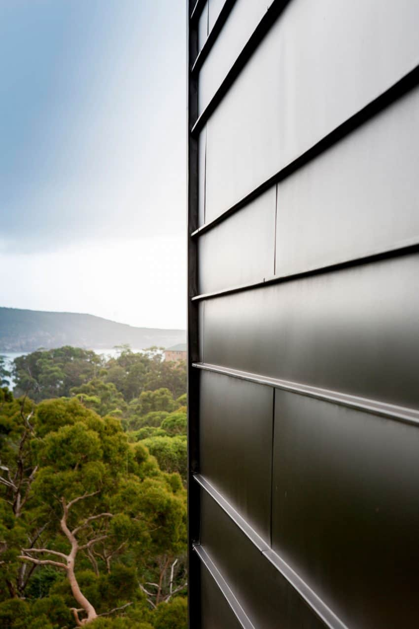 Metal siding makes for an ultra contemporary look