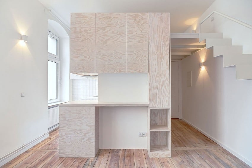 Micro apartment in Berlin by spamroom & John Paul Coss.