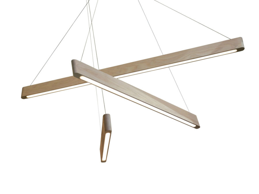 Minimal wooden lights 900x675 Sleek Wooden Line Light Will Add Style to Your Home