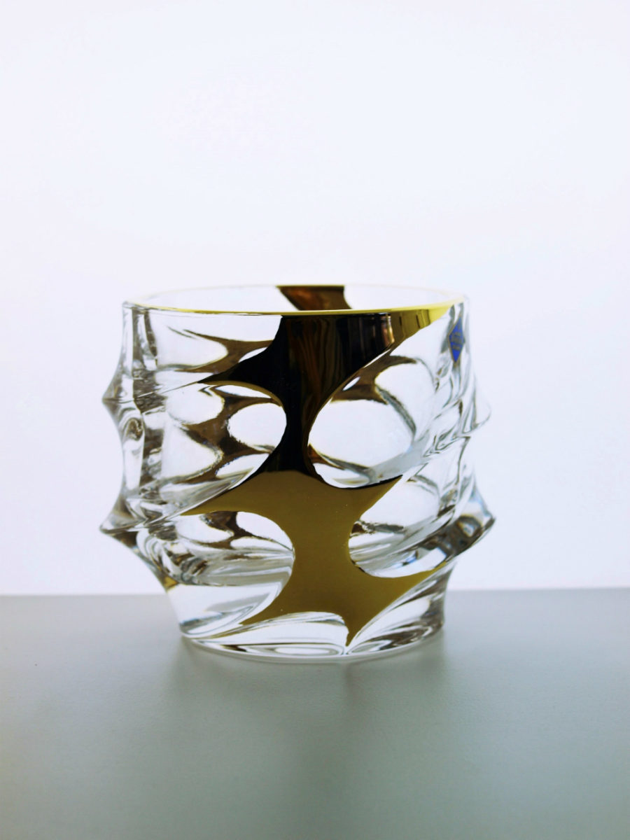 Modern Czech whisky glass
