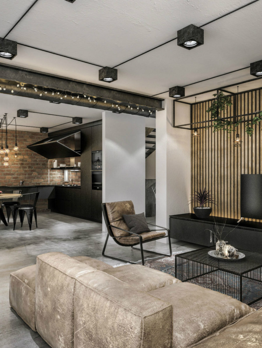 Modern Loft in an Old Soviet Building in Kaunas Lithuania 900x1197 This Contemporary Loft Project Proves That Industrial Look Can Be Luxe