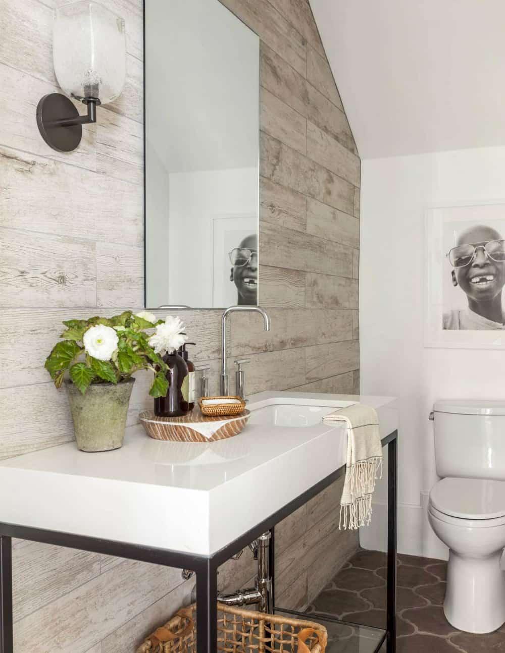 Modern Mediterranean dream home powder room