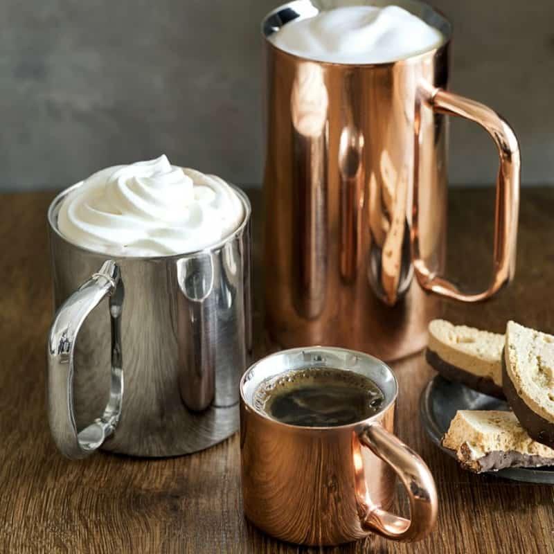 Modern autumn metallic mugs