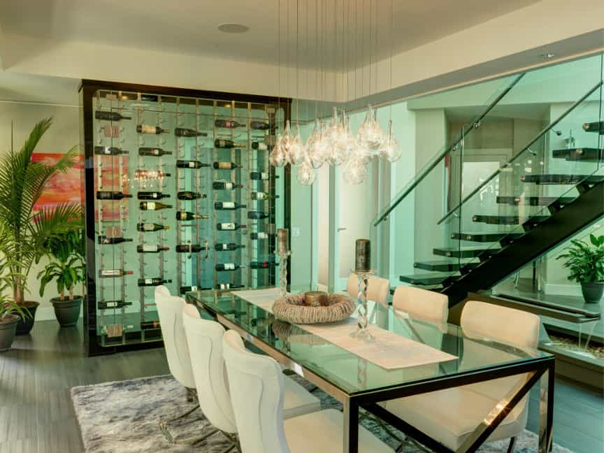 View In Gallery Modern Blueglass Wine Cellar