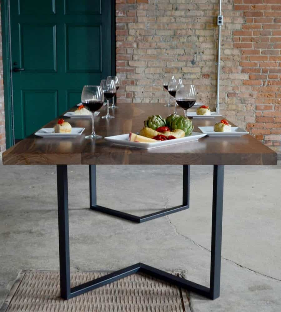 35 modern dining tables that will make every dinner special for Steel dining table design