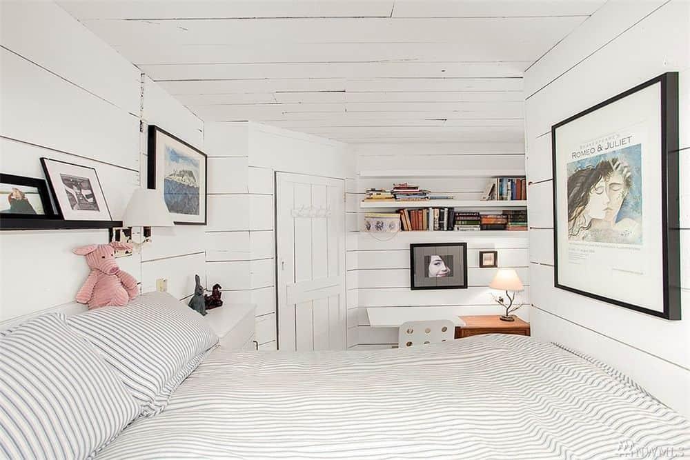 Modern floating home bedroom