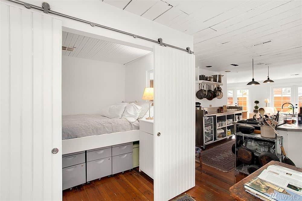 Modern floating home interior