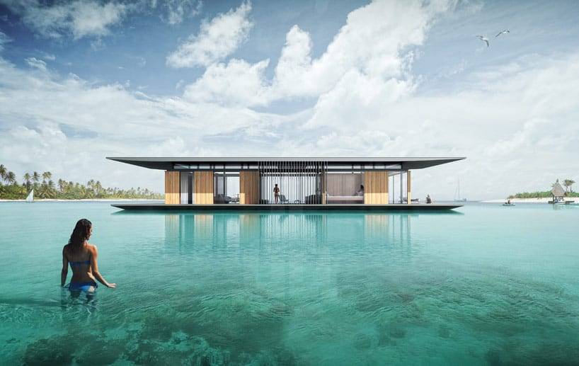 Modern floating house by Dymitr Malcew