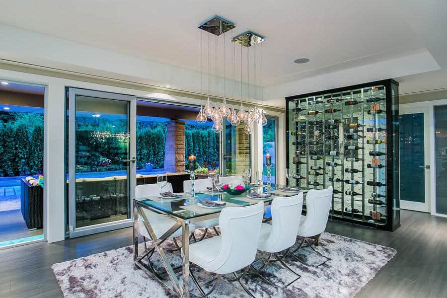 Modern luxury wine display