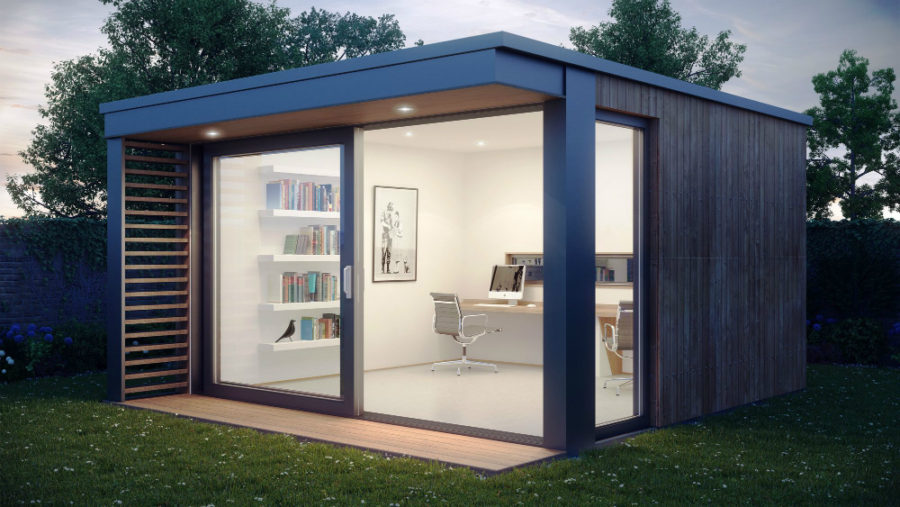 21 modern outdoor home office sheds you wouldn 39 t want to leave for Modern garden shed designs