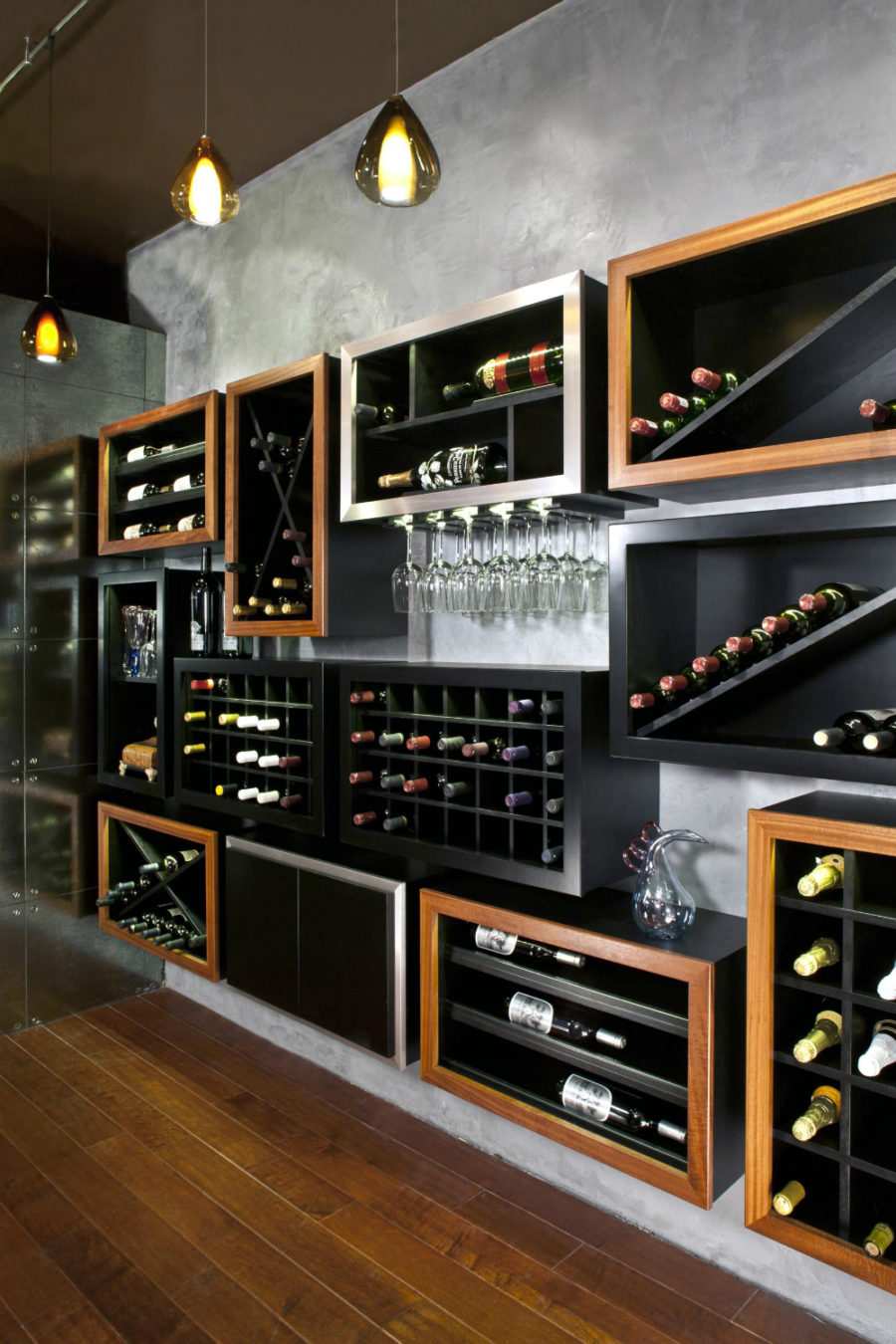Any connoisseur 39 s dream modern wine cellar designs for Wine room ideas
