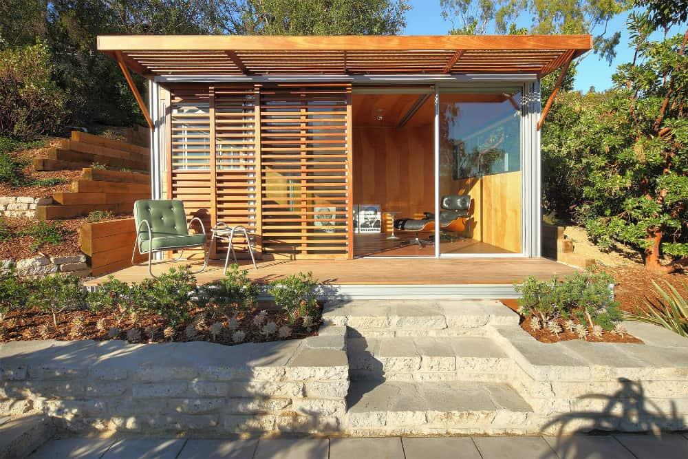 Modernist garden office