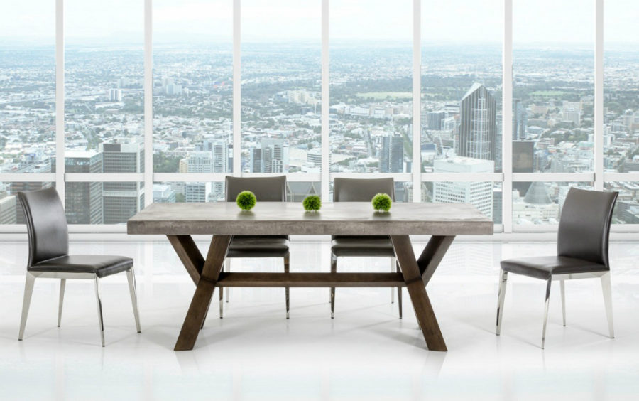 Modrest Urban Concrete Rectangular Dining Table
