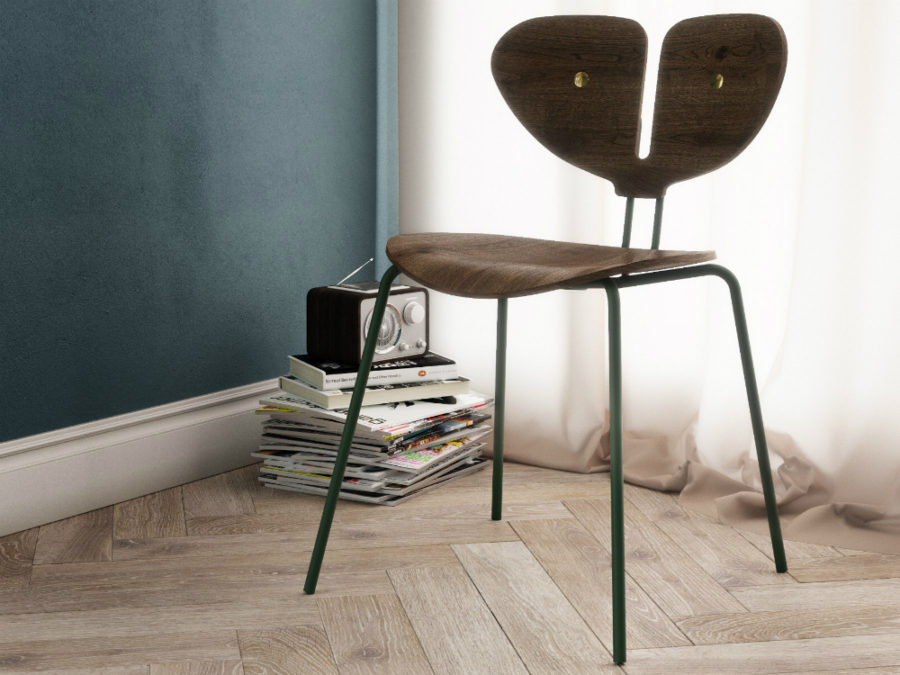 Moth chair in mid century modern style 900x675 Moth Chair Is A Cool Take on Scandinavian Modernist Style