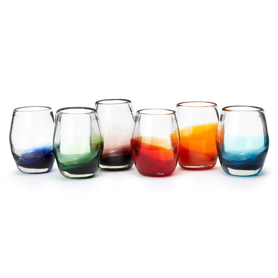 Multicolor Ombre Stemless Wine Glasses