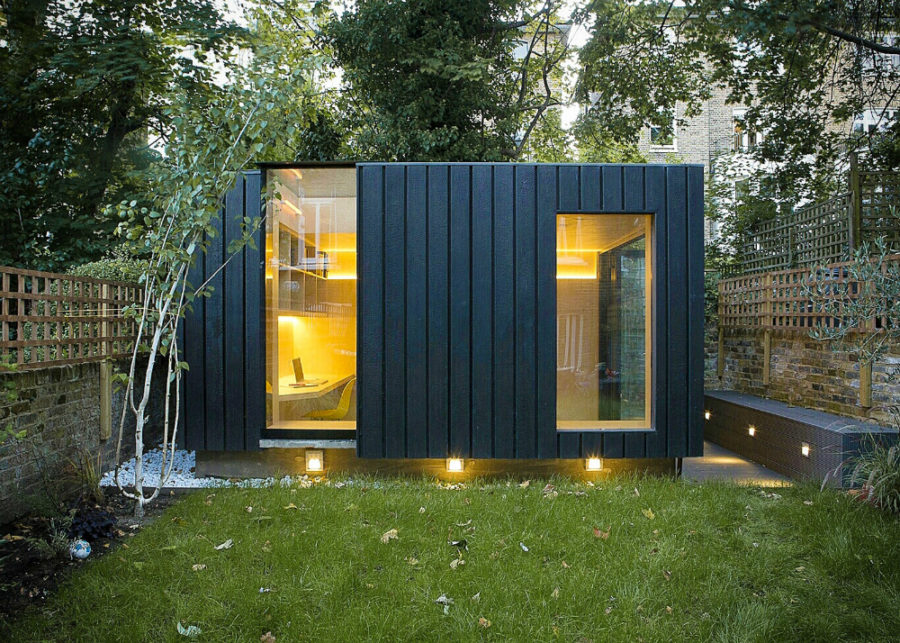 21 modern outdoor home office sheds you wouldn 39 t want to leave for Wooden studios for gardens