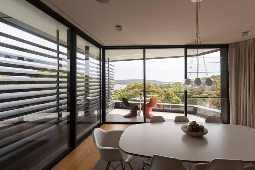 Outdoor deck overlooks the beautiful sights