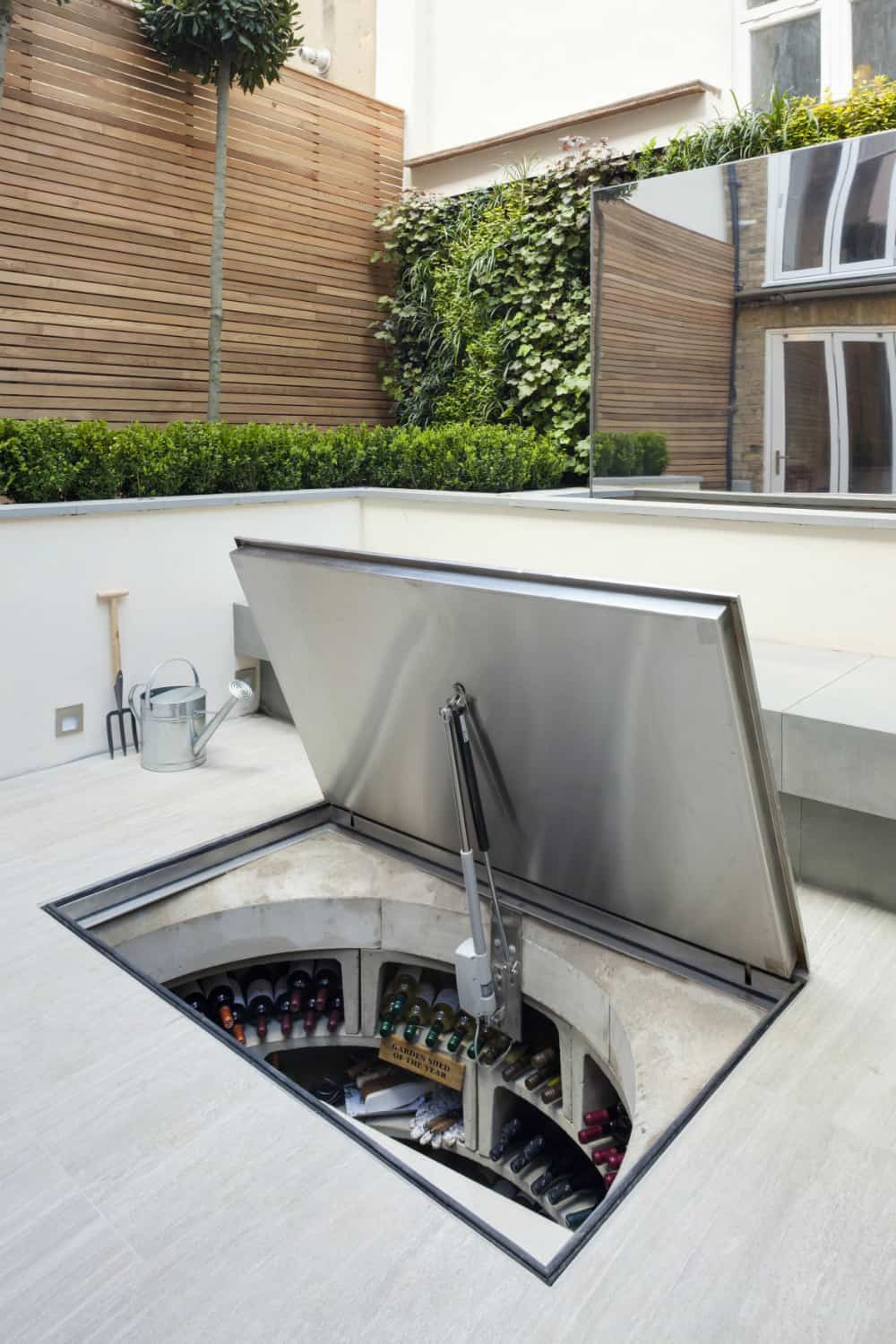 Outdoor wine cellar