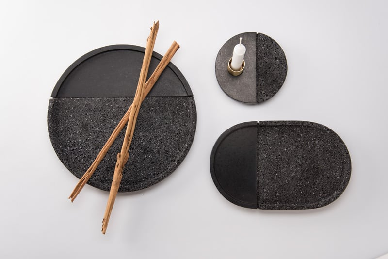 ... PECA created plates from LAVA stone & Modern Tableware That Will Make Every Meal a Fête