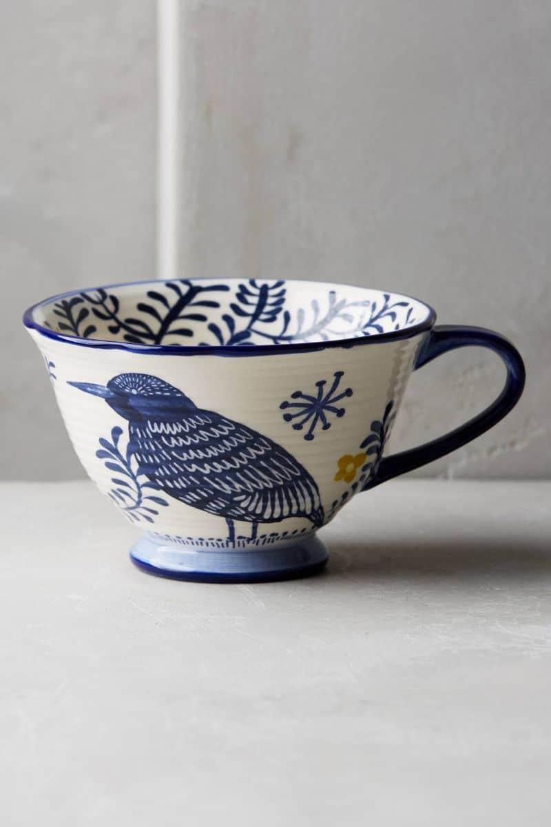 Painted tea mug