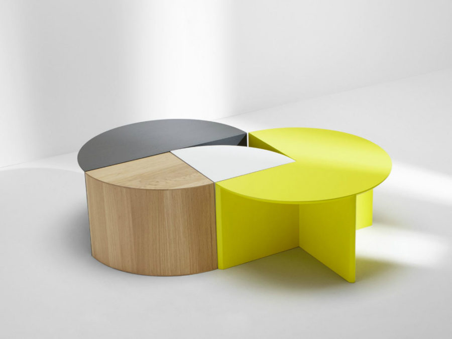 View In Gallery Pie Chart System Modular Coffee Table