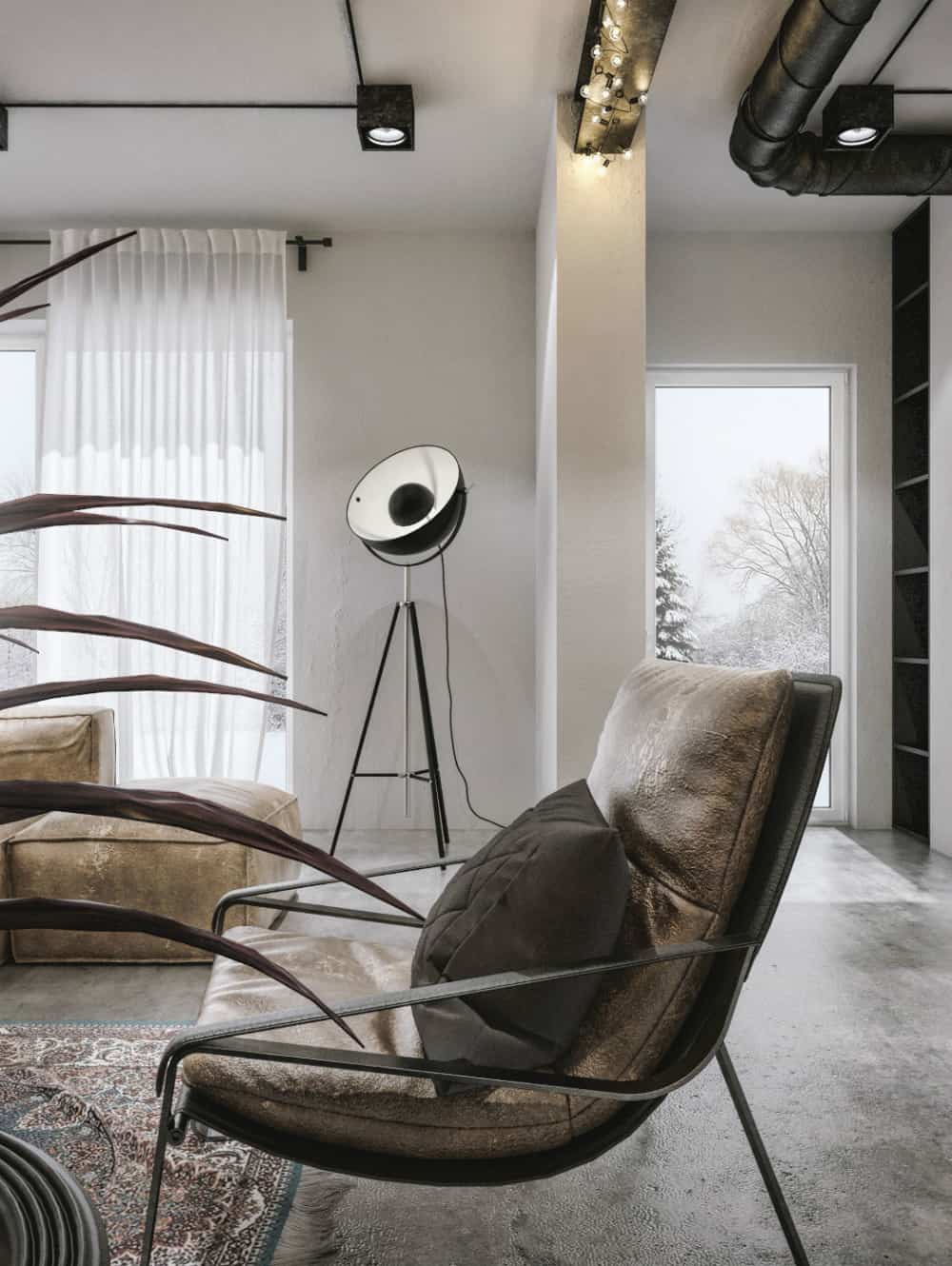 Polished industrial aesthetic with a touch of luxury