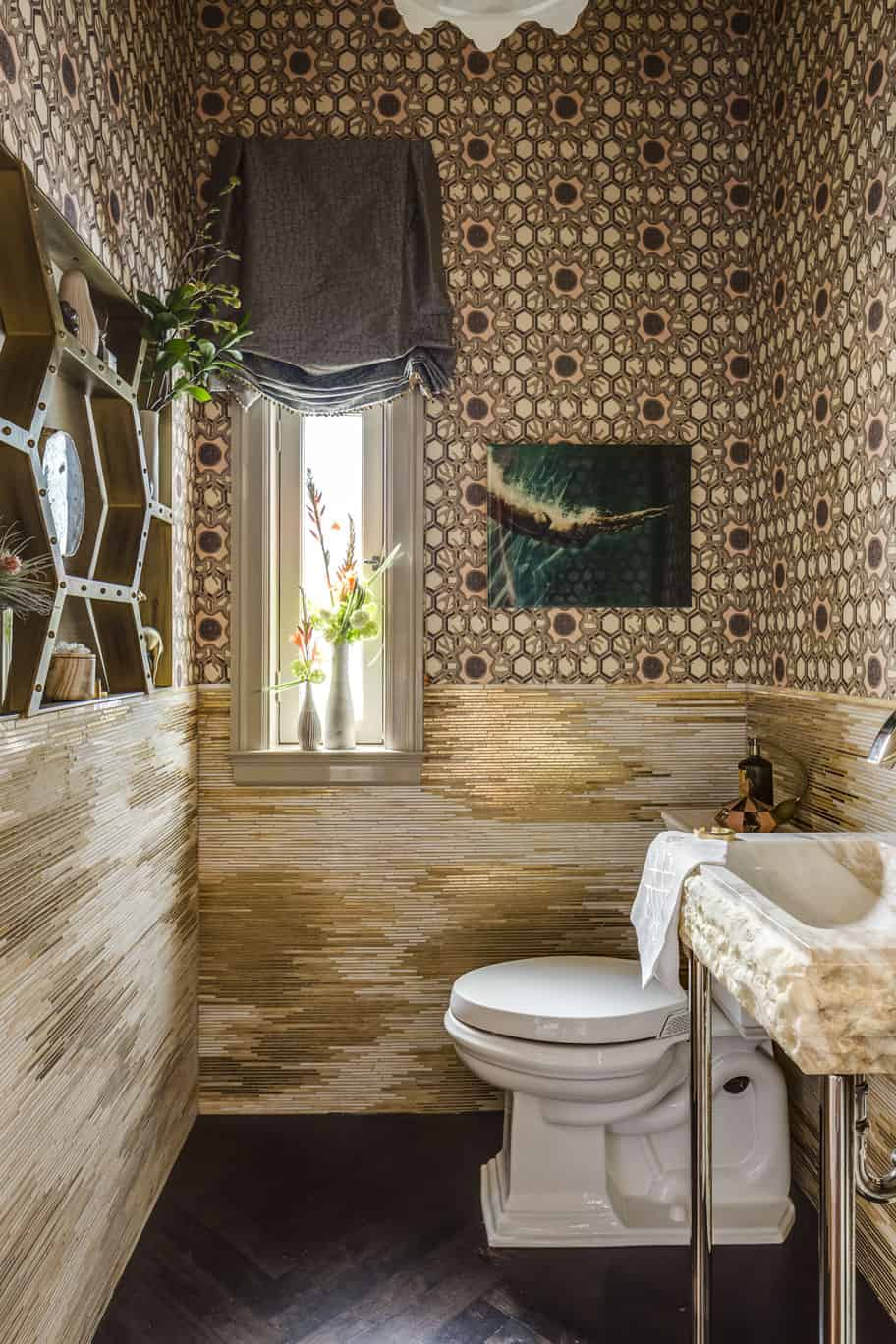 Powder room interior by Julie Rootes Powder Room