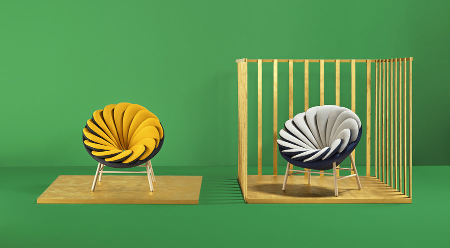 Quetzal 900x497 Quetzal Armchair is Like a Flower With Reversible Petals