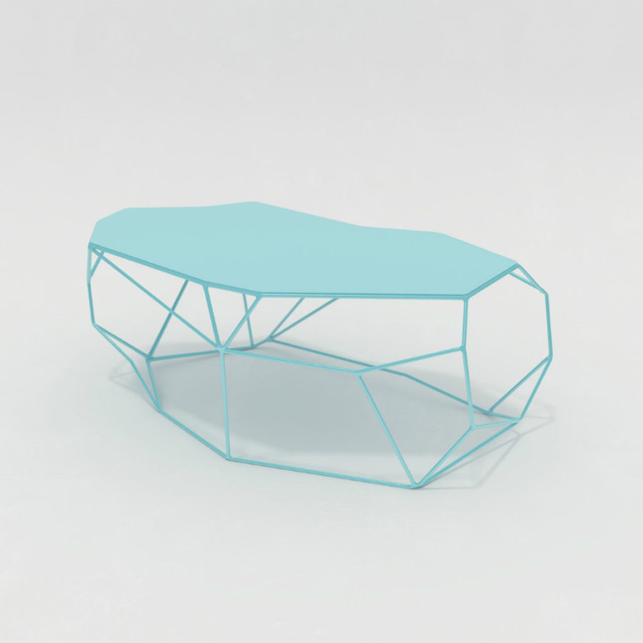 Rock Metal Table by Antoine Morris