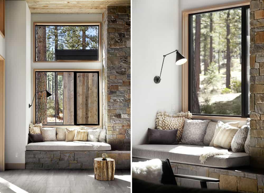 Rustic modern window seat