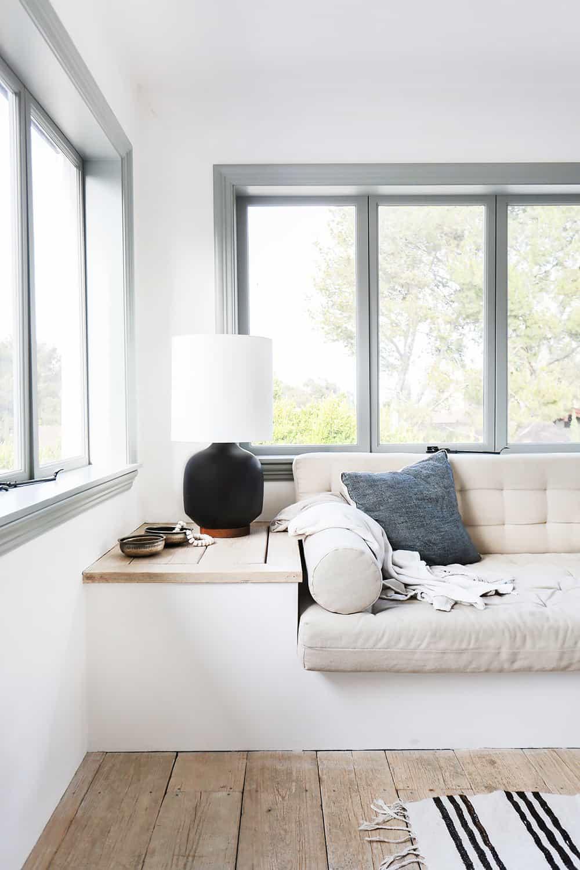 Scandinavian style interior window seat