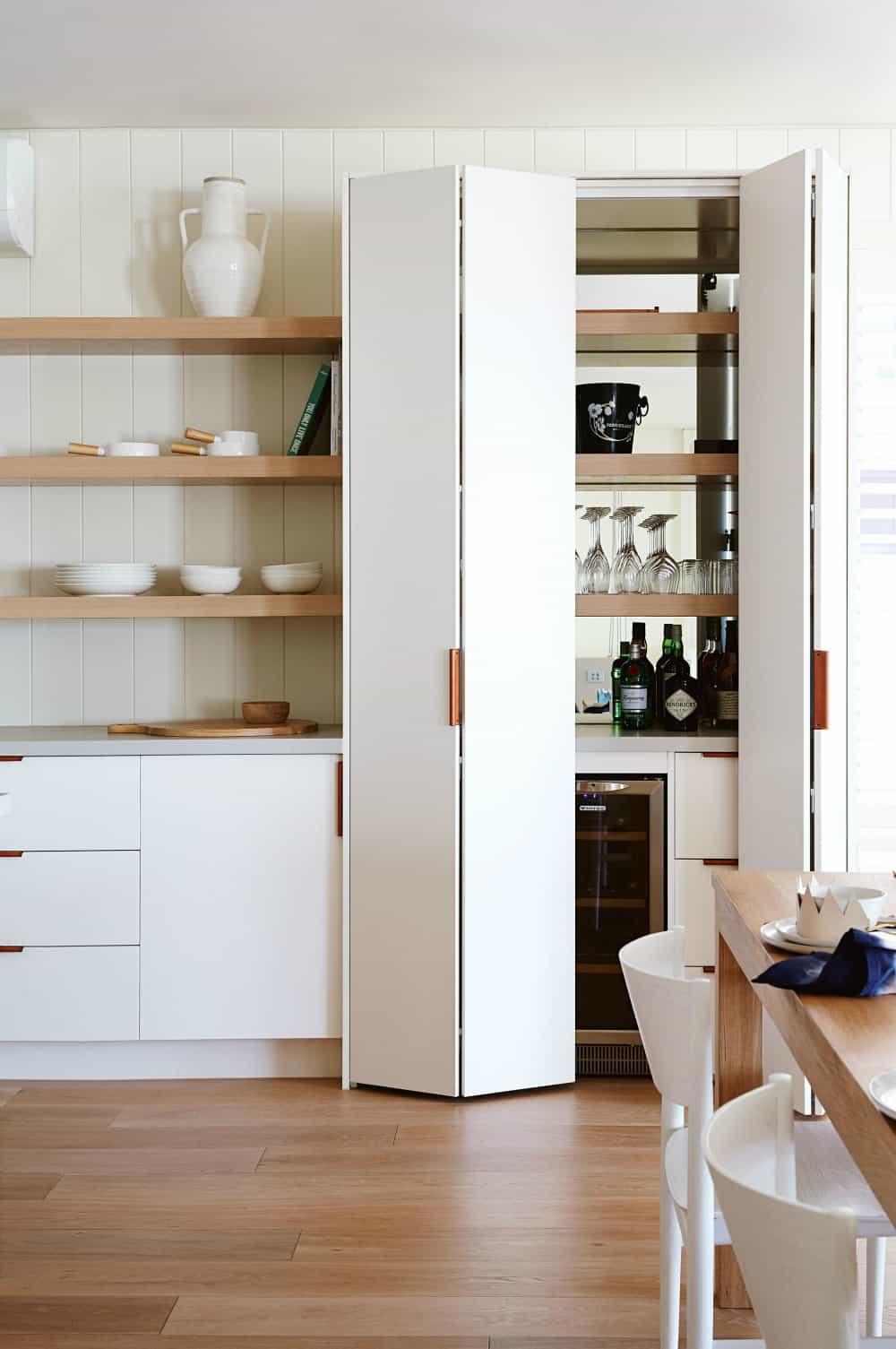 Sleek kitchen pantry