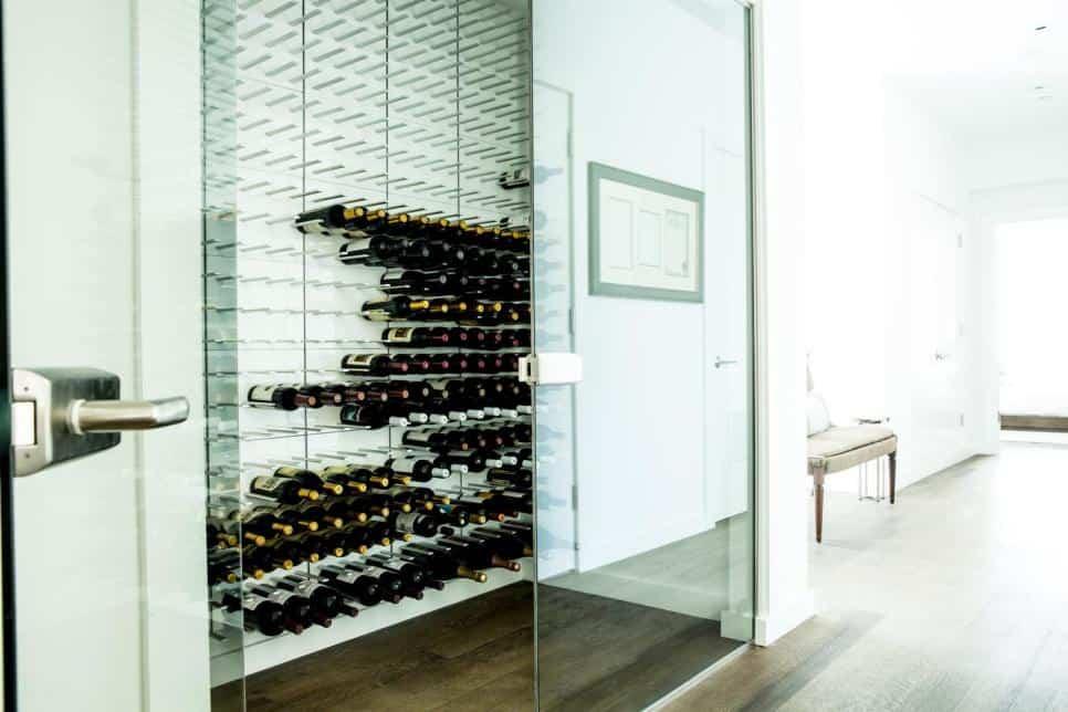Sleek wine cellar
