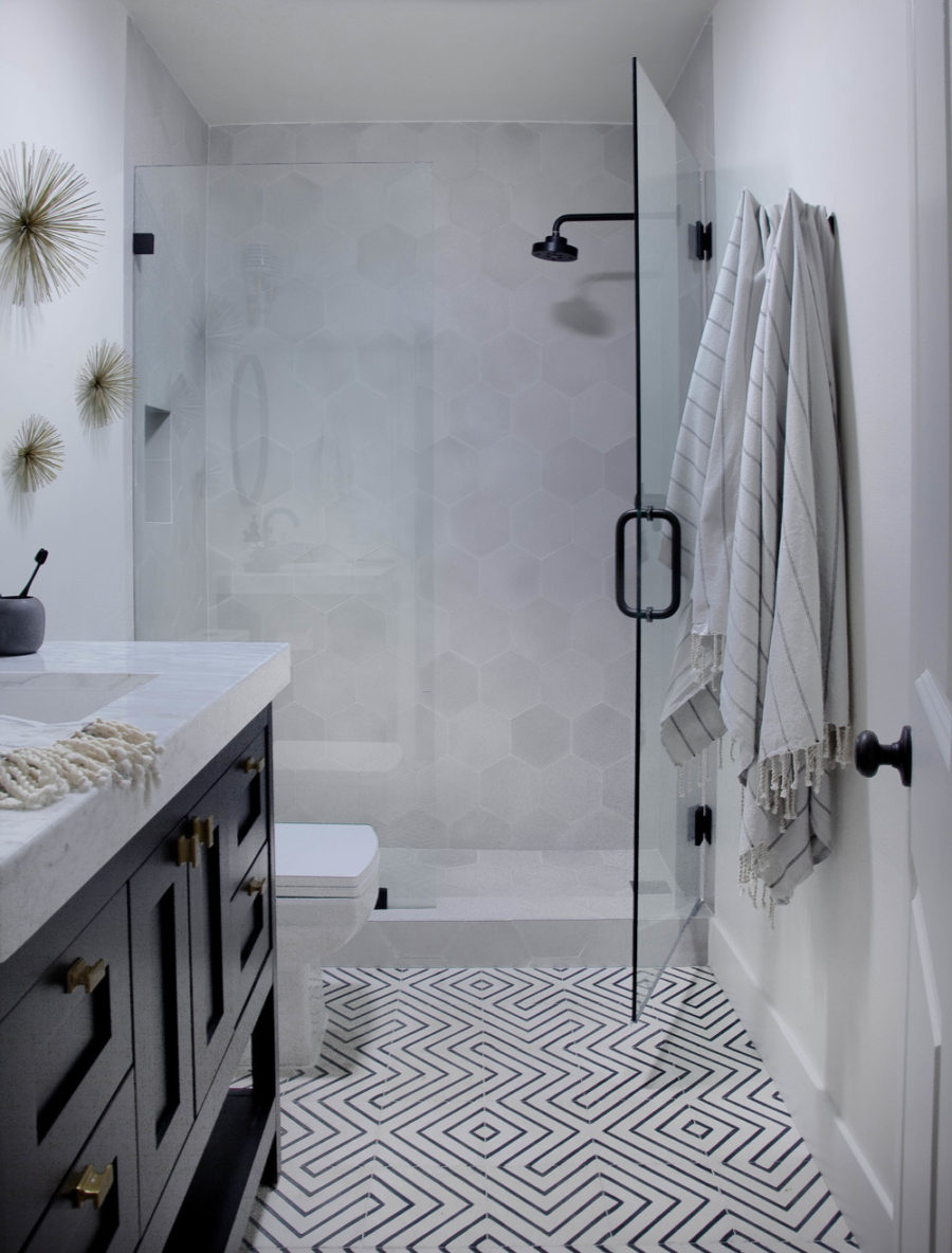 Small but stylish bathroom