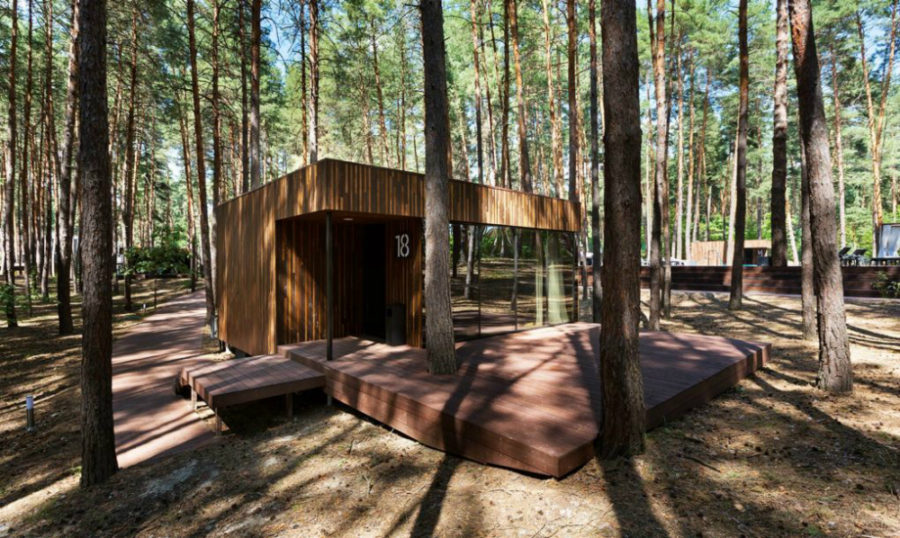 Small cabins by YOD Studio 900x538 Modern Cabins That Make Gorgeous Holiday Homes