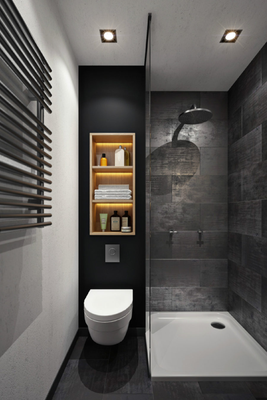 Small dark bathroom