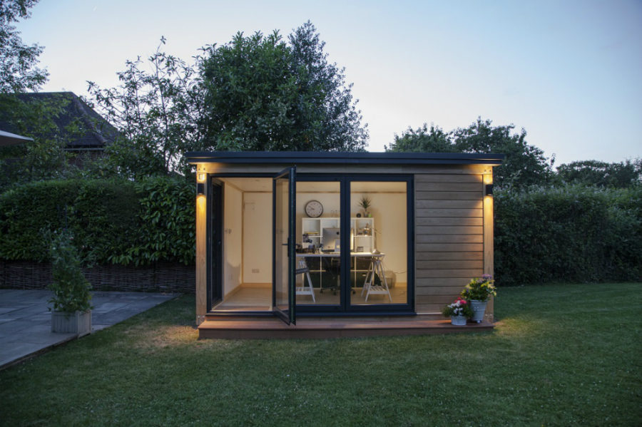 Office Pod View in gallery Small office pod 900x599 21 Modern Outdoor Home Office  Sheds You Wouldnt Want to Leave