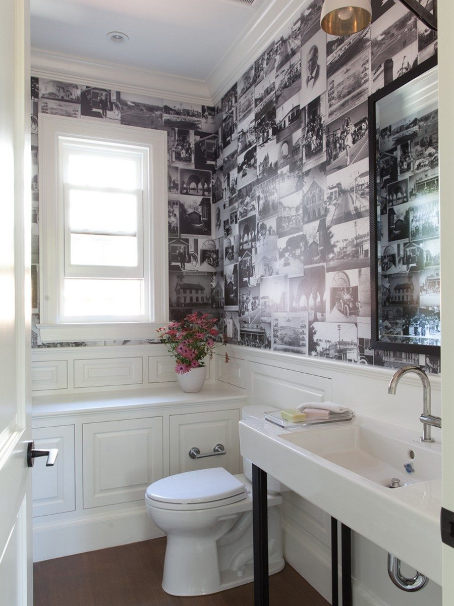 Unique powder rooms to inspire your next remodeling - Small powder room decorating ideas ...
