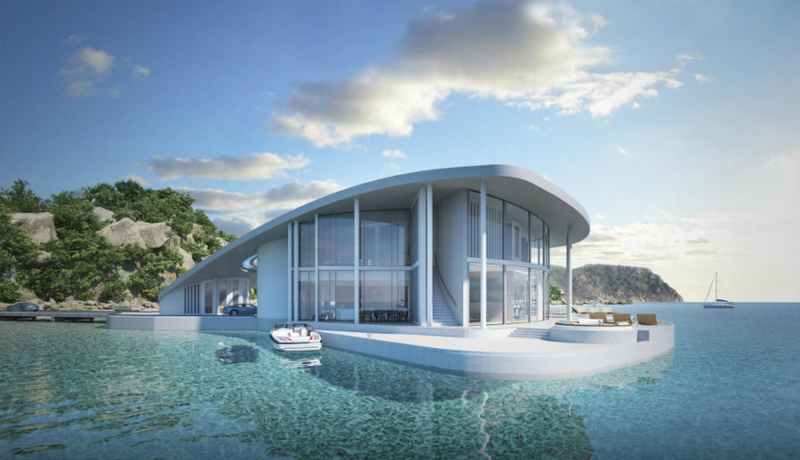 Sting Ray Floating House exterior concept