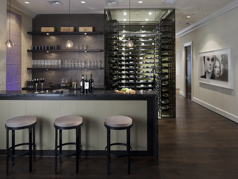 ... Stylish Contemporary Bar And Wine Cellar