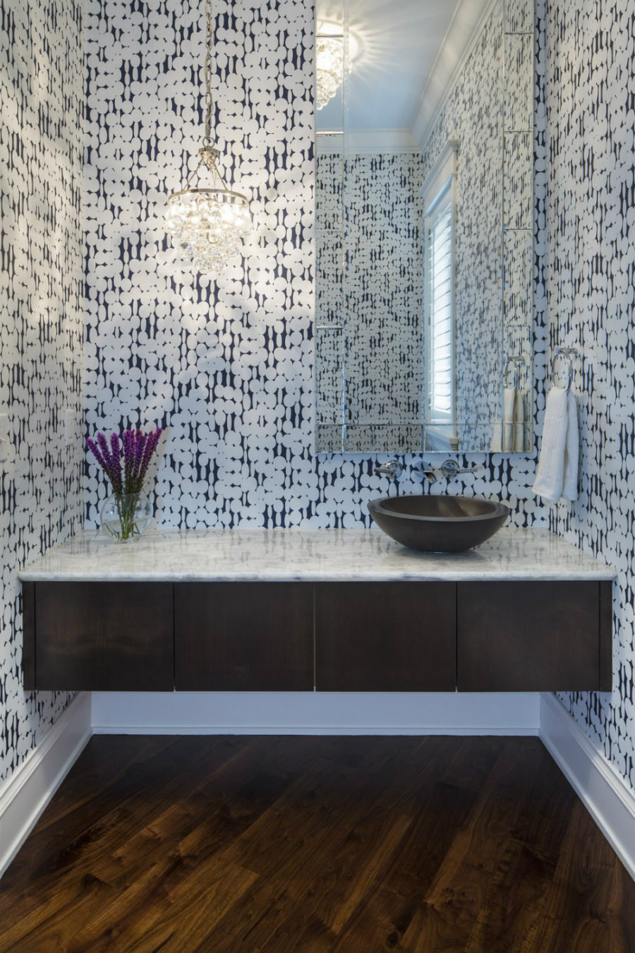 Stylish powder room