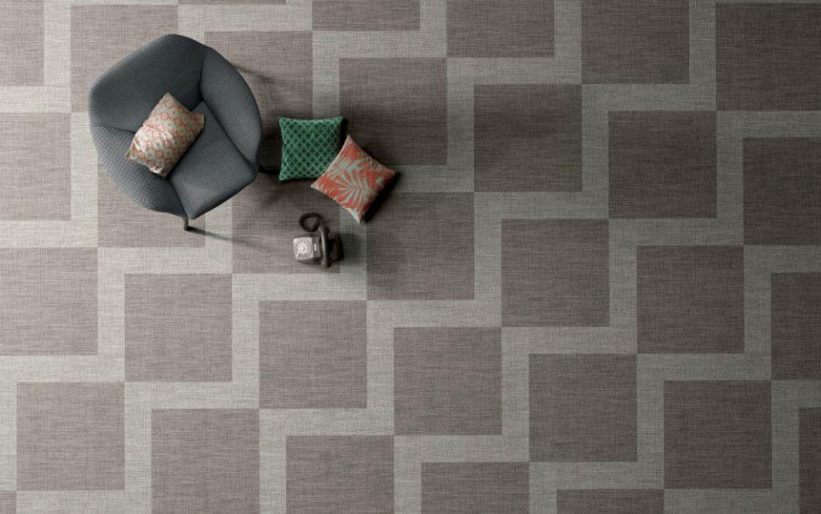 Textile floor tiles