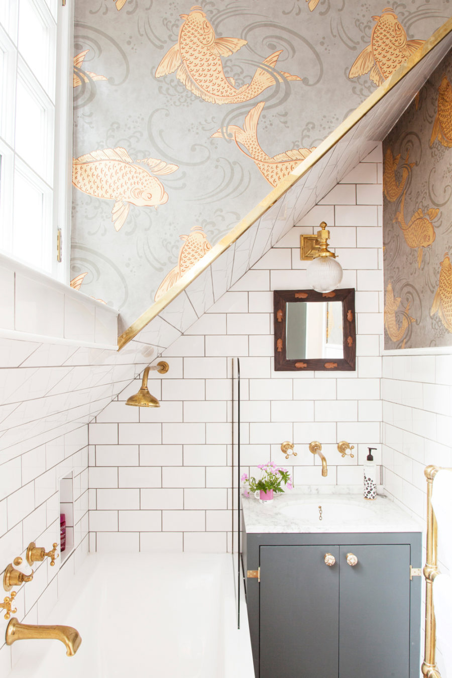 The Pink House bath remodel
