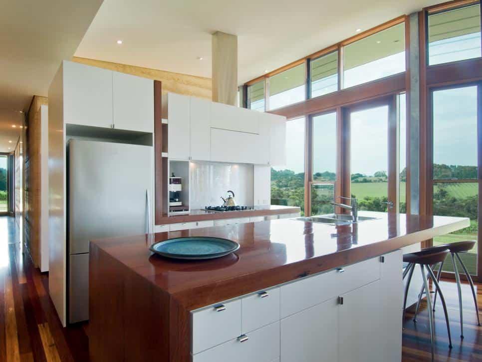 Timber kitchen countertop