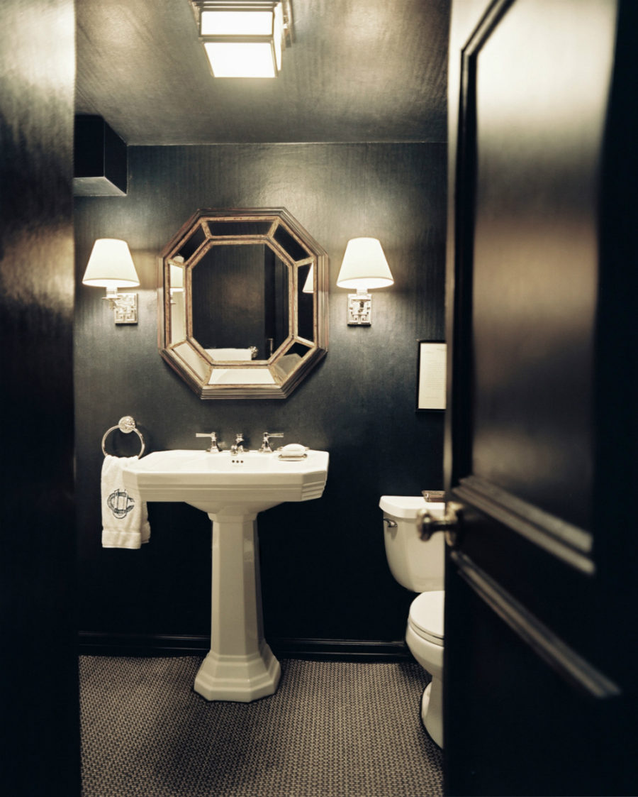 Total black powder room