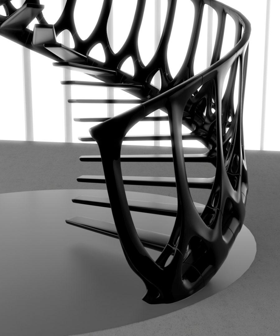 Vertebrae Staircase