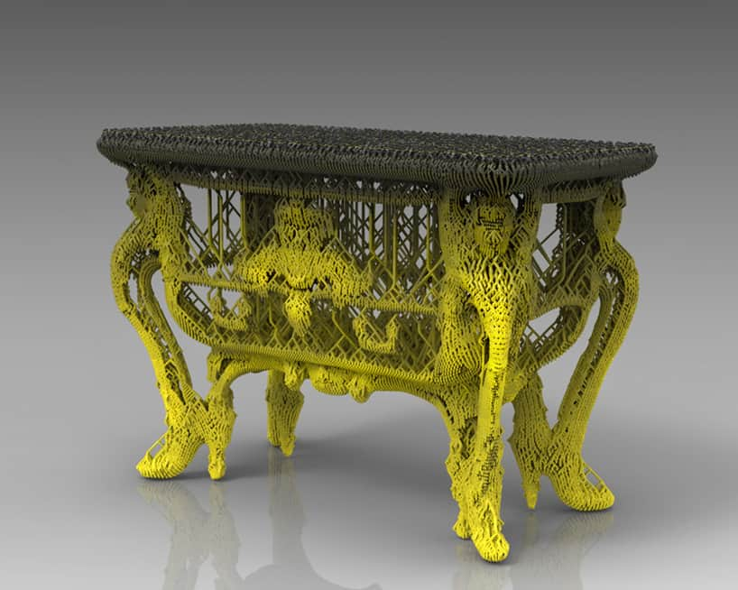 Vincent Coste 3d-printed table