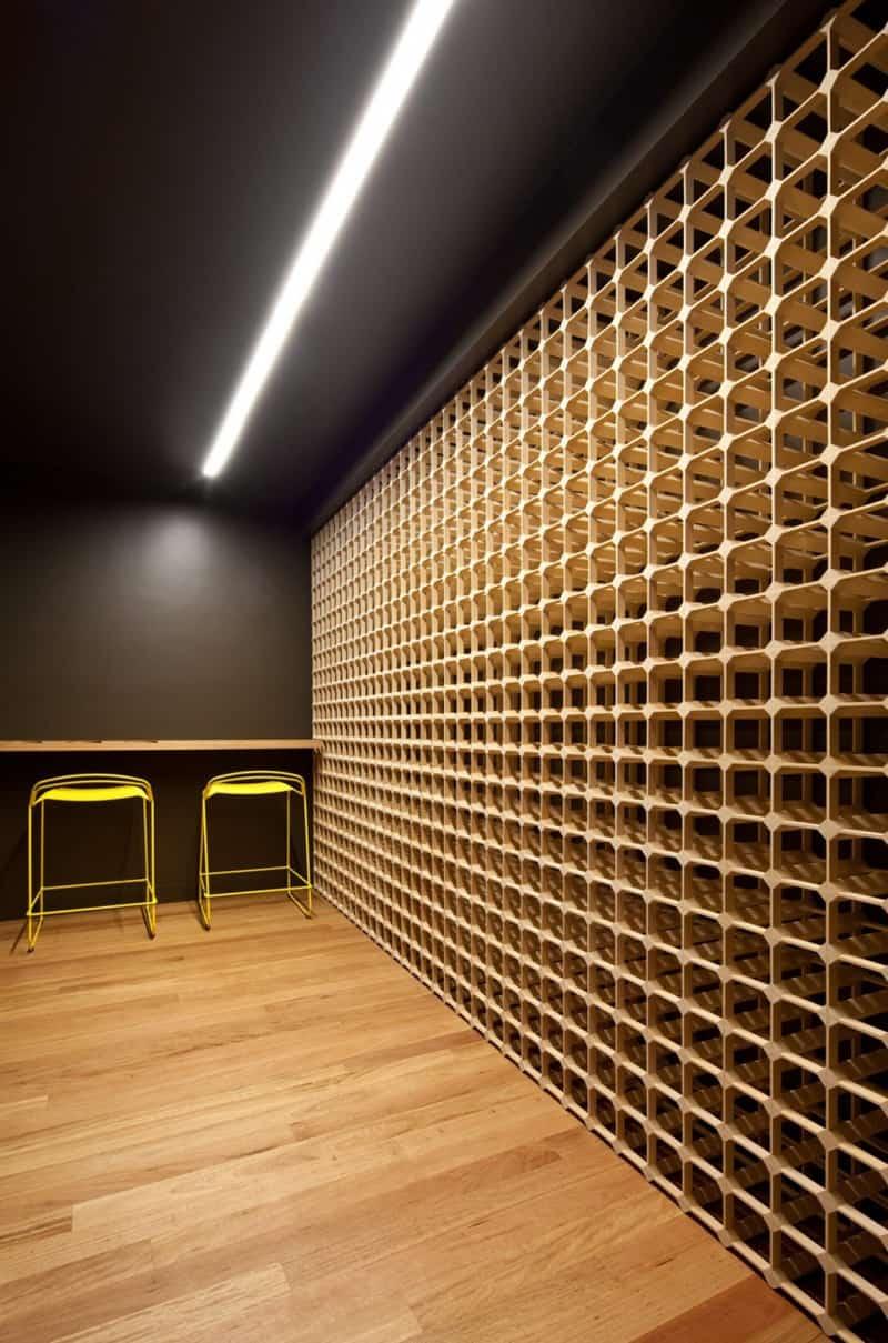 Wine storage wall