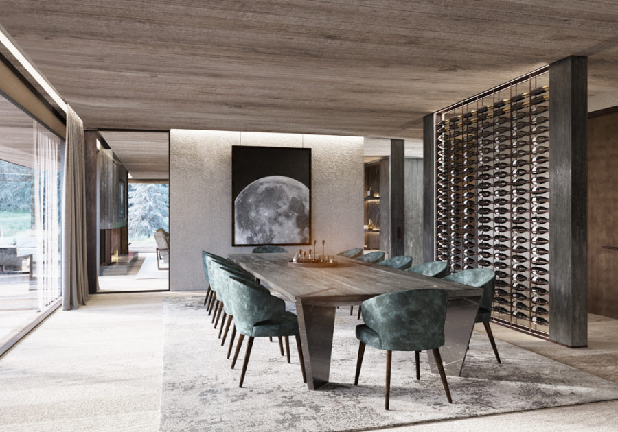 Wine wall divider