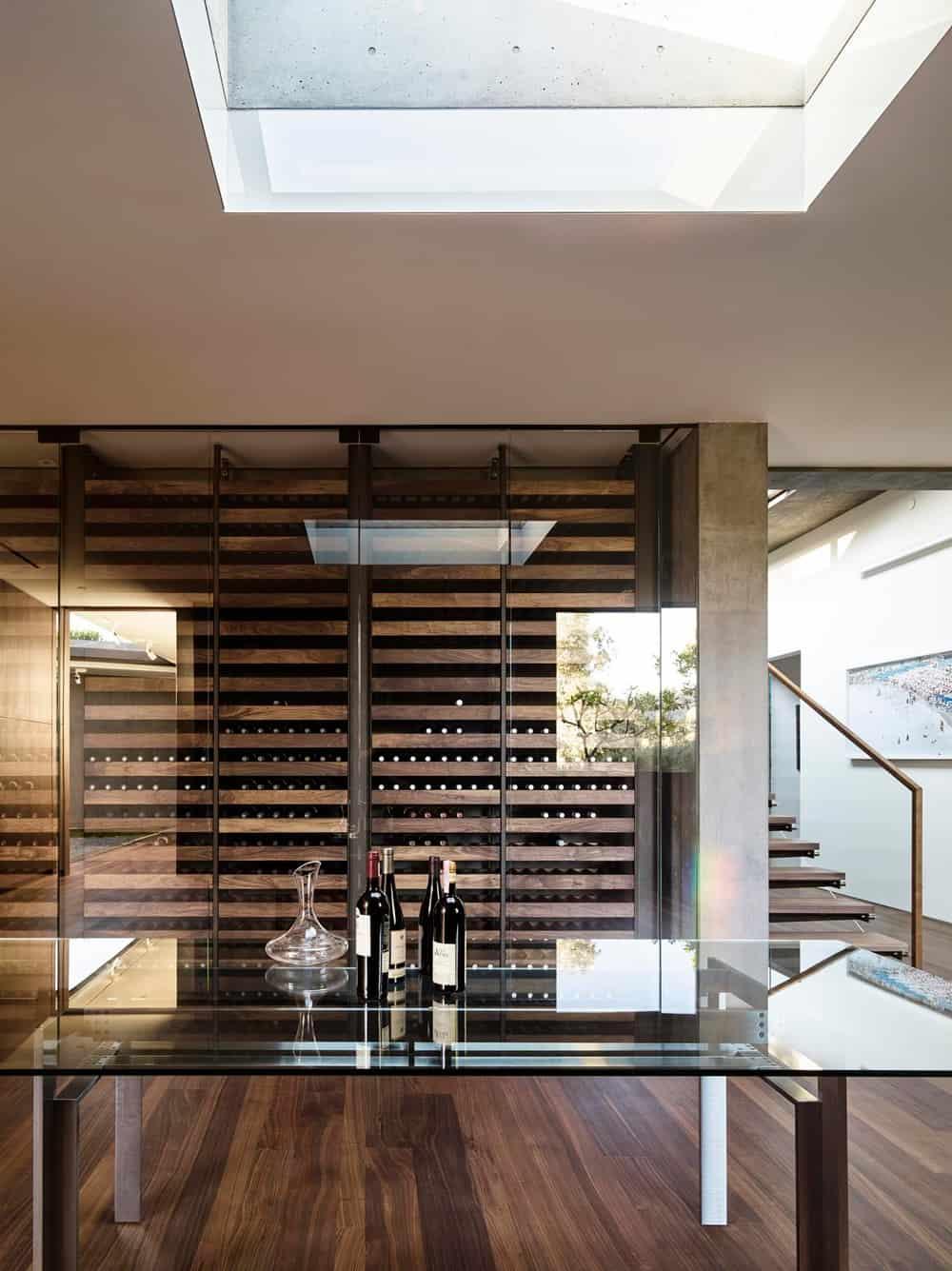 Wood and glass vinoteca